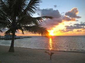 Sunrise on Ambergris Caye